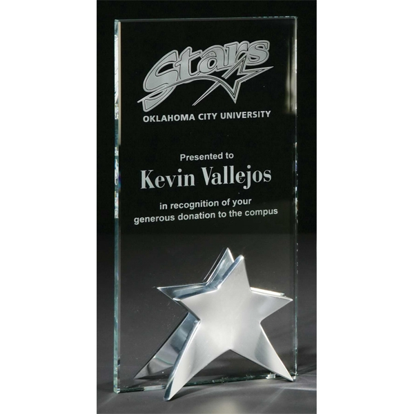 Promotional Beacon Starfire Crystal Award with Aluminum Base
