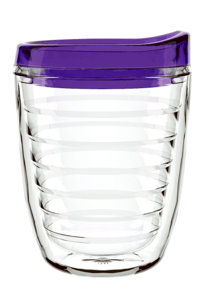 Customized 12 oz Ringed Tumbler with Lid & Straw - Tritan (tm)