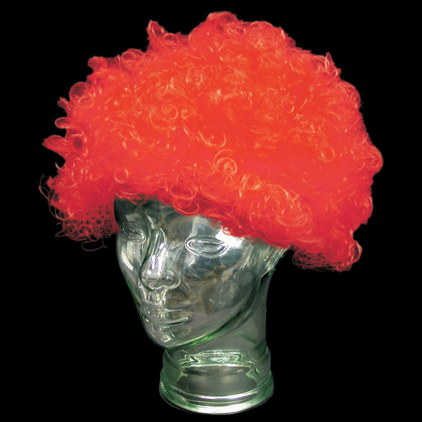 Printed Red Spirit  Cheering Costume Wig