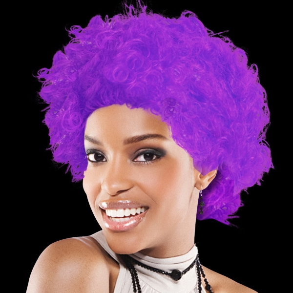 Personalized Purple Spirit Cheering Costume Wig