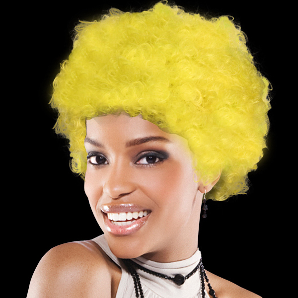 Promotional Yellow Spirit Cheering Costume Wig