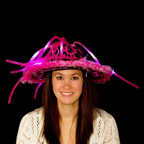 Printed Pink Light Up LED Show Daddy Novelty Hat