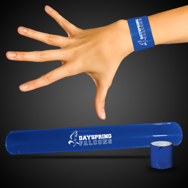 "Promotional Blue 8 3/4"" Slap Bracelet"