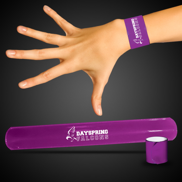 "Personalized Purple 8 3/4"" Slap Bracelet"