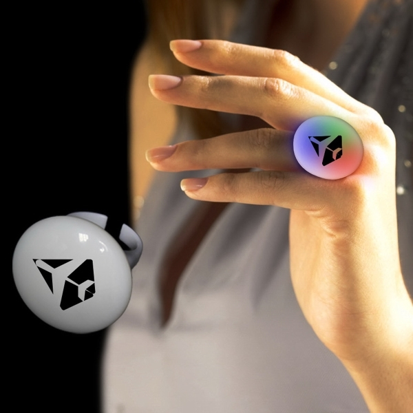 Personalized Multi Color LED Light up Glow Button Ring