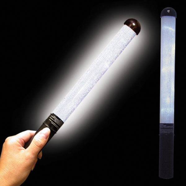 customized white led light up glow patrol wand usimprints. Black Bedroom Furniture Sets. Home Design Ideas