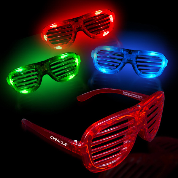 Custom Light-Up Glow LED Slotted Glasses
