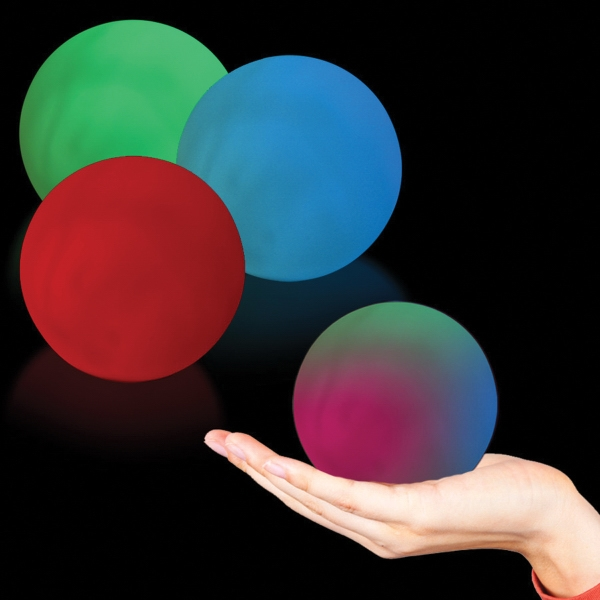 Imprinted Sphere MultiColor LED Glow Light Up Shape