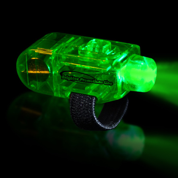 Imprinted Green LED Finger Light Ring