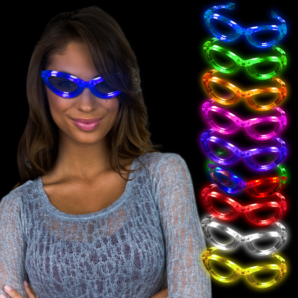 Customized Light Up Flashing LED Sunglasses