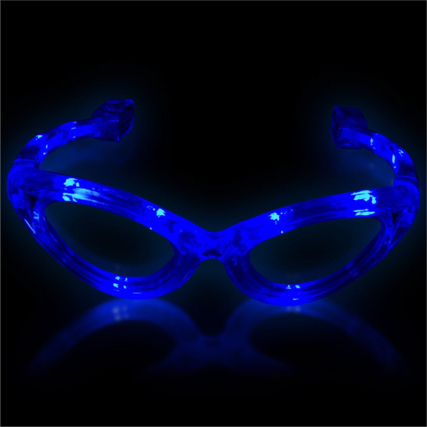 Custom Blue Light Up Glow Flashing LED Glasses
