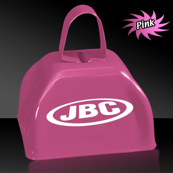 "Customized Pink 3"" Metal Cowbell"