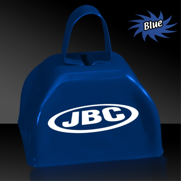 "Customized BLue 3"" Metal Cowbell"