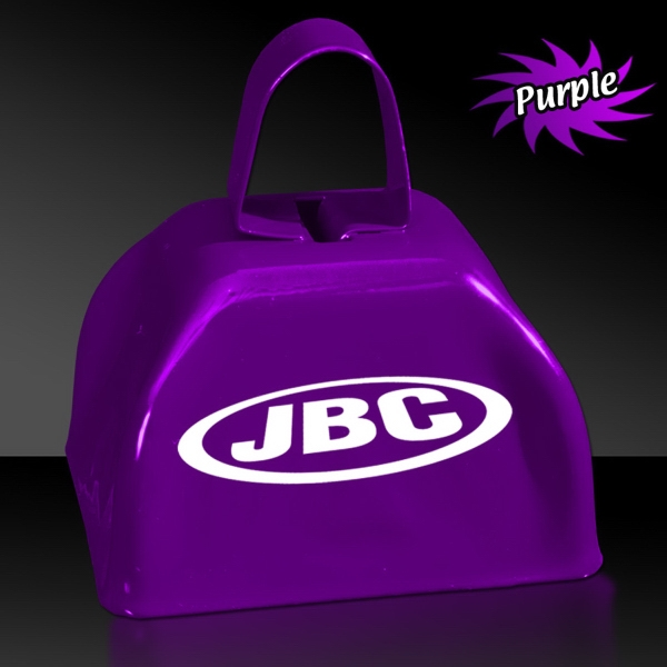 "Printed Purple 3"" Metal Cowbell"