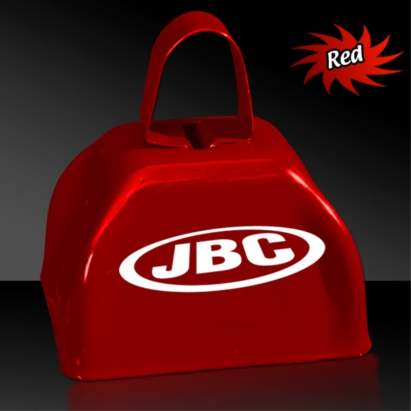 "Customized Red 3"" Metal Cowbell"
