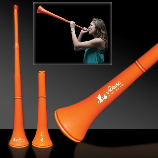Custom Orange Collapsible Stadium Horn