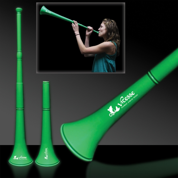 Personalized Green Collapsible Stadium Horn