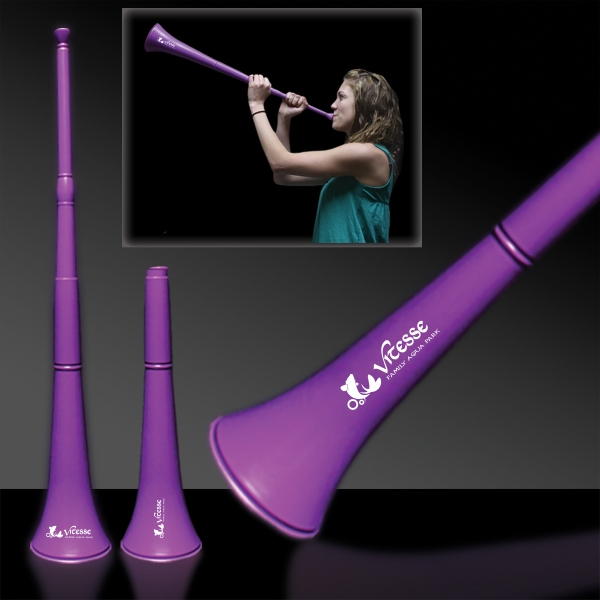 Custom Purple Collapsible Stadium Horn