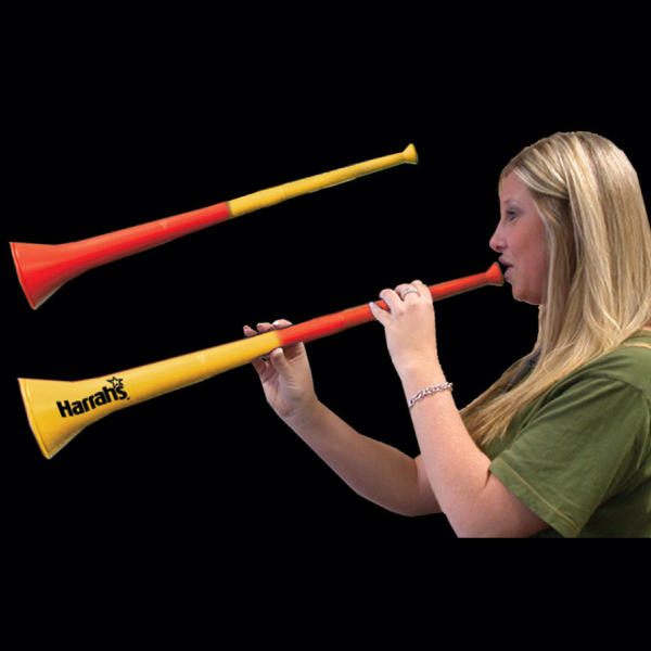 Personalized Yellow & Red Bi-Color Collapsible Stadium Horns