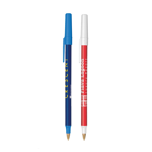 Imprinted BIC (R) Round Stic (R) Antimicrobial Pen