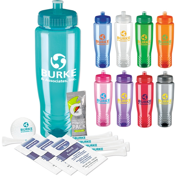 Imprinted Sports Bottle Deluxe Golf Event Kit