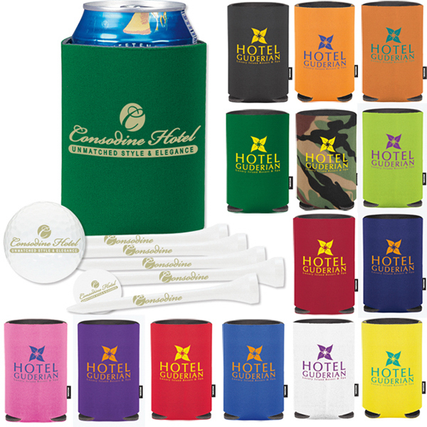 Imprinted Collapsible KOOZIE (R) Deluxe Golf Event Kit