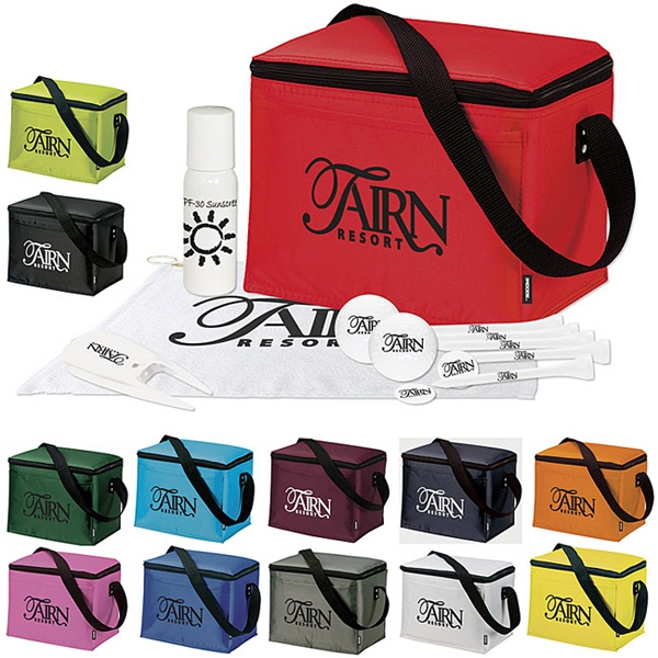 Printed KOOZIE (R) 6 Pack Cooler Golf Event Kit
