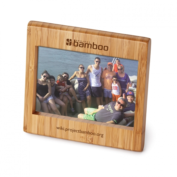 "Custom Bamboo 4"" x 6"" Photo Frame"