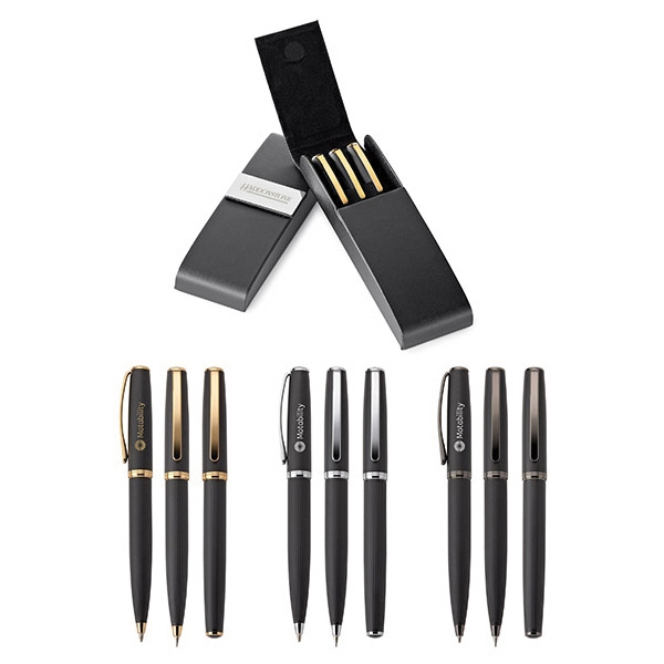Printed Renzo Pen, Rollerball & Pencil Set