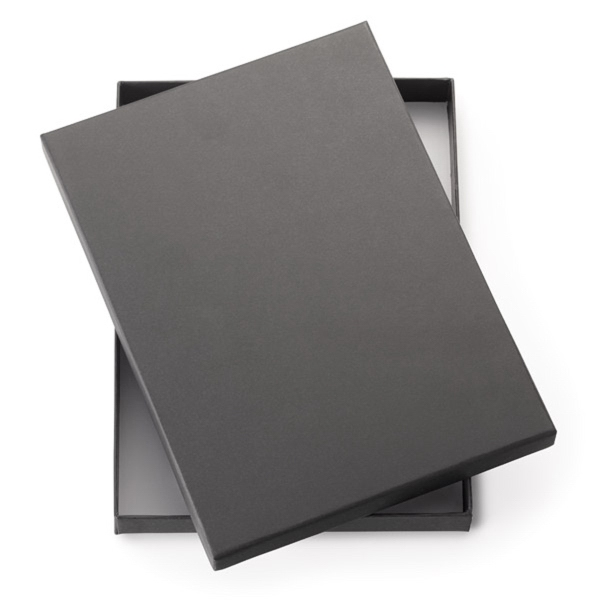 "Personalized 2-Piece Black Gift Box For 9"" Journals"