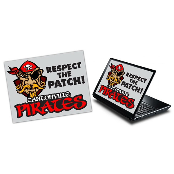 "Customized Laptop Skin Rectangle Sticker - Vinyl UV Coated - 8.5"" x 11"""