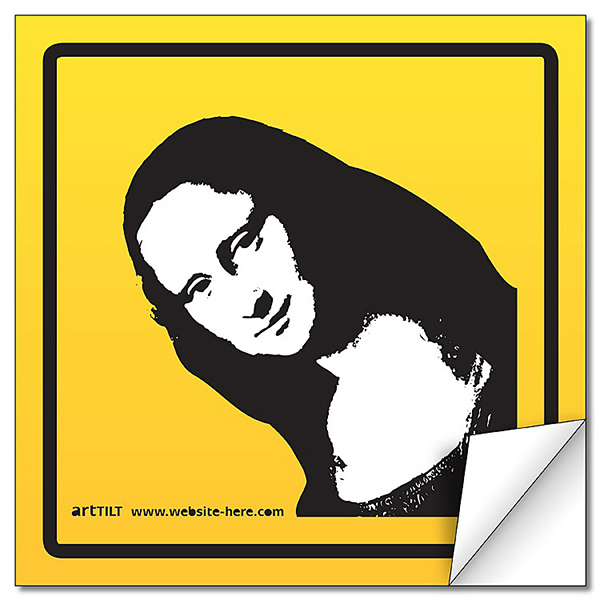Promotional Removable Rectangle Sticker / Decal - Vinyl UV Coated - 5x5