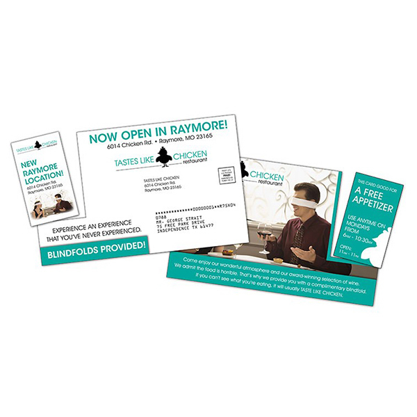 Custom Extra-Thick Laminated Plastic Postcard with Detachable Card