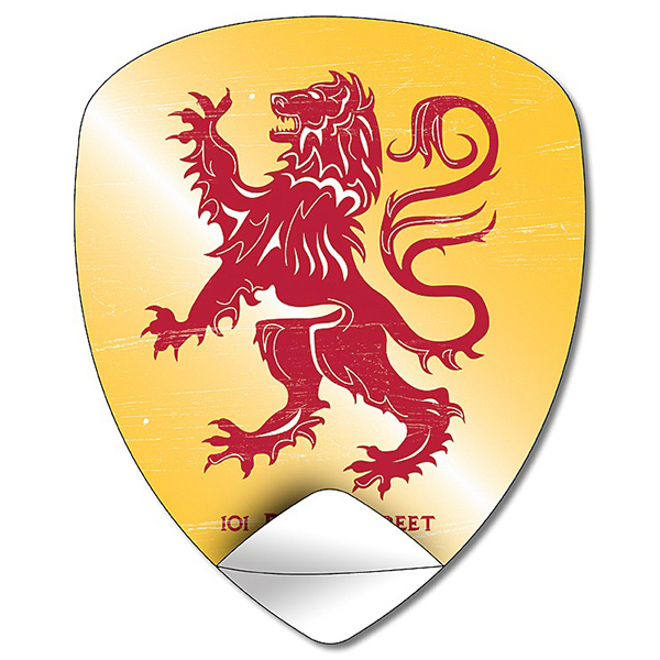 Personalized Removable Badge/Crest/Shield Shape Sticker / Decal