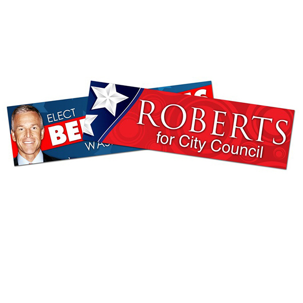 Personalized Political Campaign Bumper Sticker-Vinyl UV Coated (8.625x2.5