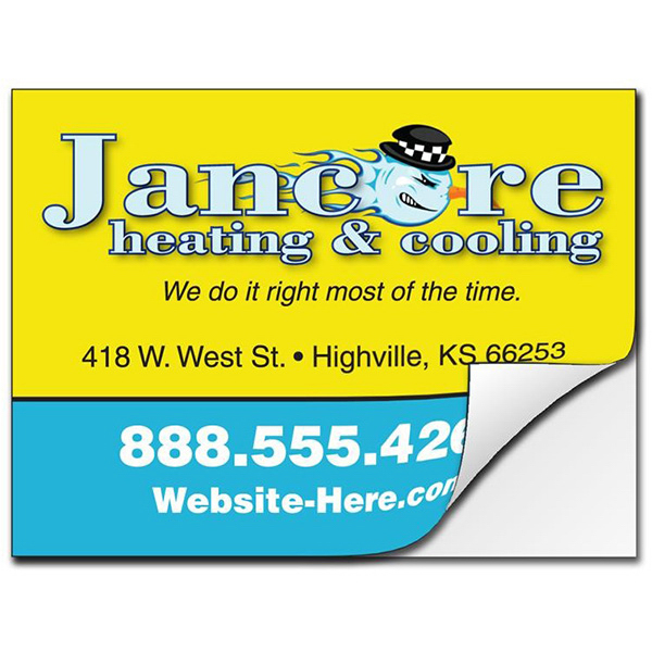 Personalized Removable Rectangle Bumper Sticker / Decal - Vinyl UV Coated