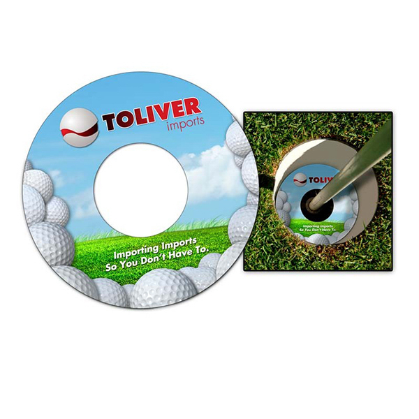 Custom Plastic Golf Cup Ad Ringer - Extra-Thick UV-Coated (1S)