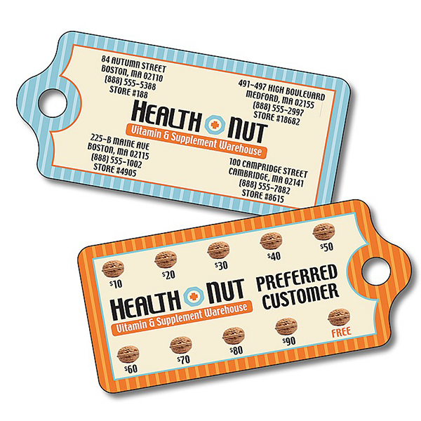 Promotional Health Plastic Key Tag - UV Coated - 2.875x1.3125