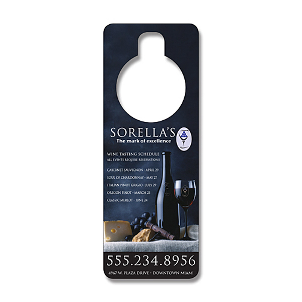 Printed Door Hanger - 3x8 UV-Coated (1S) - 10 pt