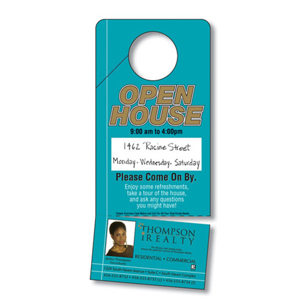 Custom Plastic Door Hanger - 3.5x8 UV-Coated (1S) with Slit