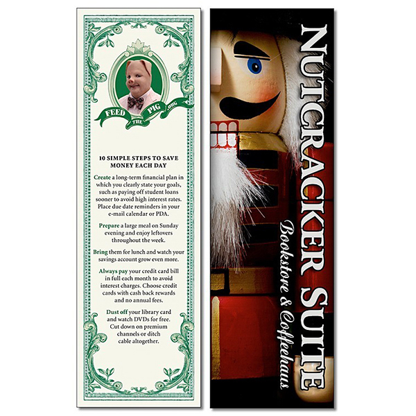 Customized Plastic Bookmark - 2.25x7.25 Extra-Thick UV-Coated (1S)