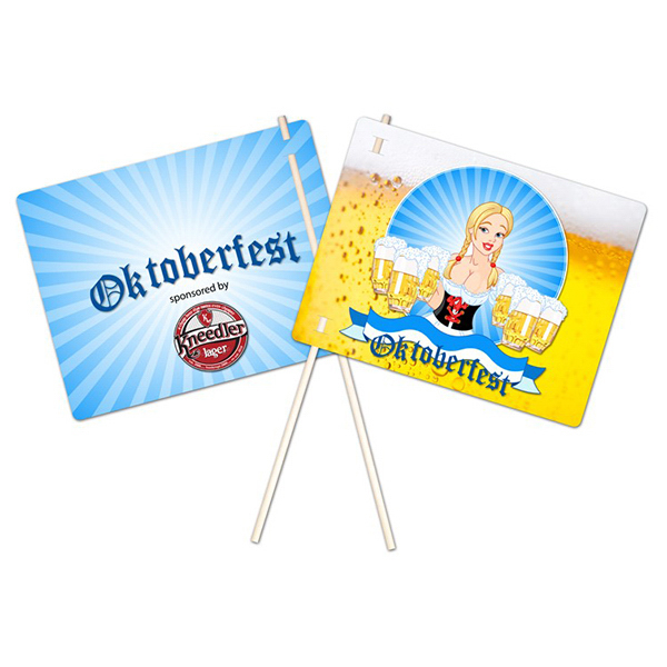 Printed Flexible Plastic Flag - UV-Coated (1S) - 8.5x11 - 10 pt