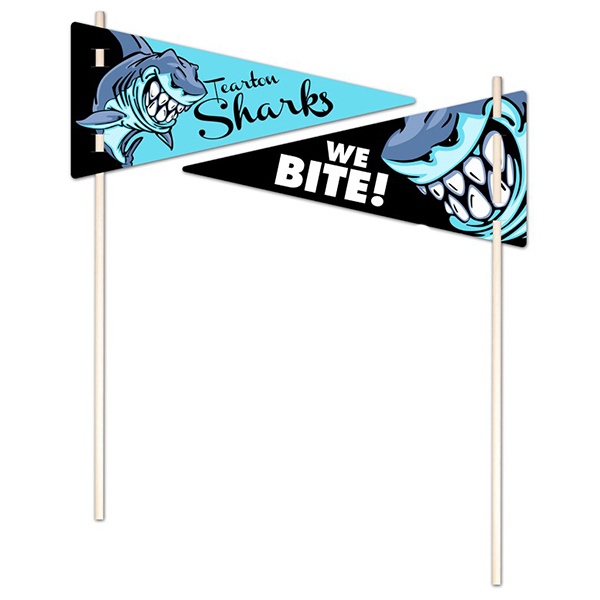 Customized Flexible Plastic Pennant - UV-Coated (1S) - 5x11 - 10 pt