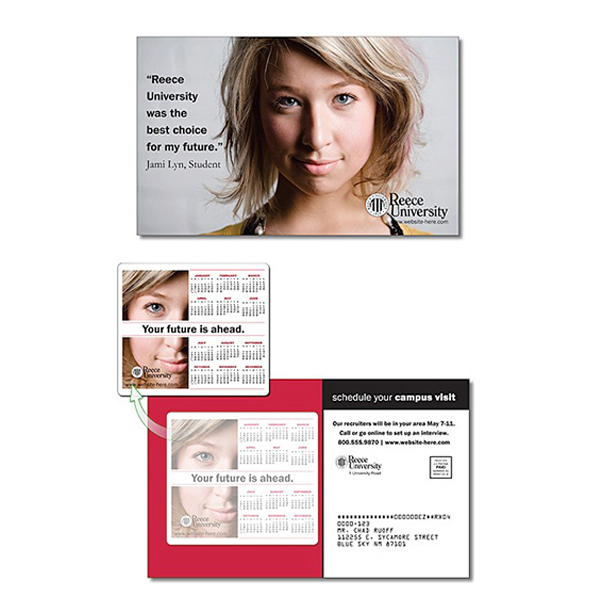 Customized School Magna-Peel Postcard (8.5x5.25) with 3.5x4 Magnet