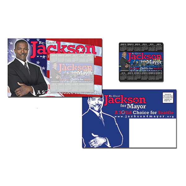 Custom Political Magna-Peel Postcard (8.5x5.25) with 3.5x4 Magnet