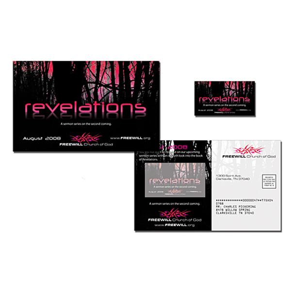 Imprinted Church Magna-Peel Postcard (8.5x5.25) / Business Card Magnet
