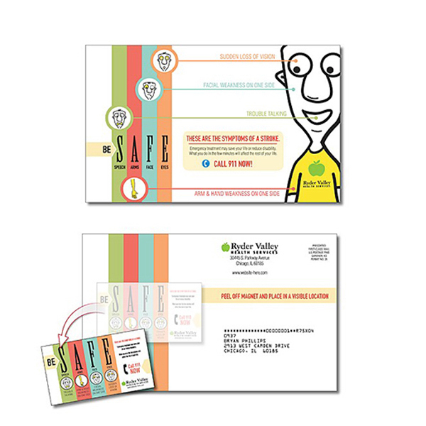 Personalized Health Magna-Peel Postcard (8.5x5.25) / Business Card Magnet
