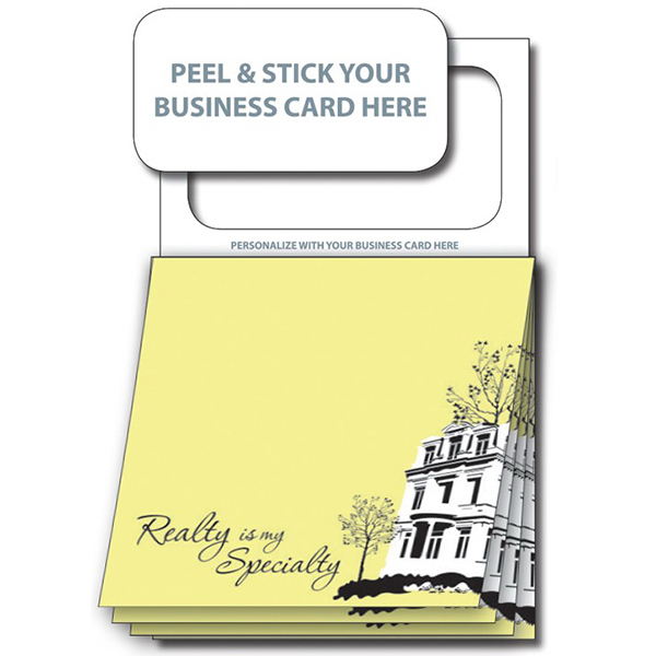 Imprinted Magnetic Stik-ON (R) Pad- Stock Realty (20 Sheet)
