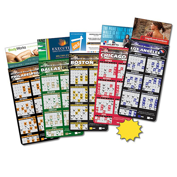 Promotional Magna-Card Business Card Magnet - Hockey Schedules