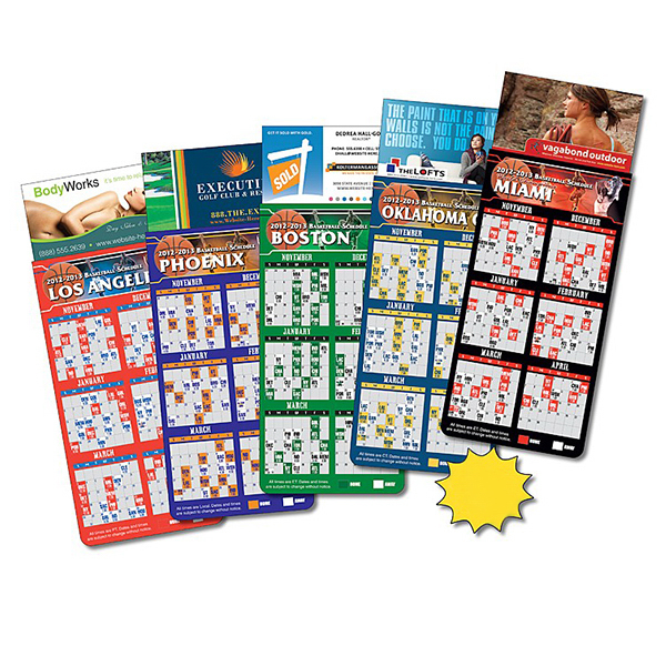 Printed Magna-Card Business Card Magnet - Basketball Schedules